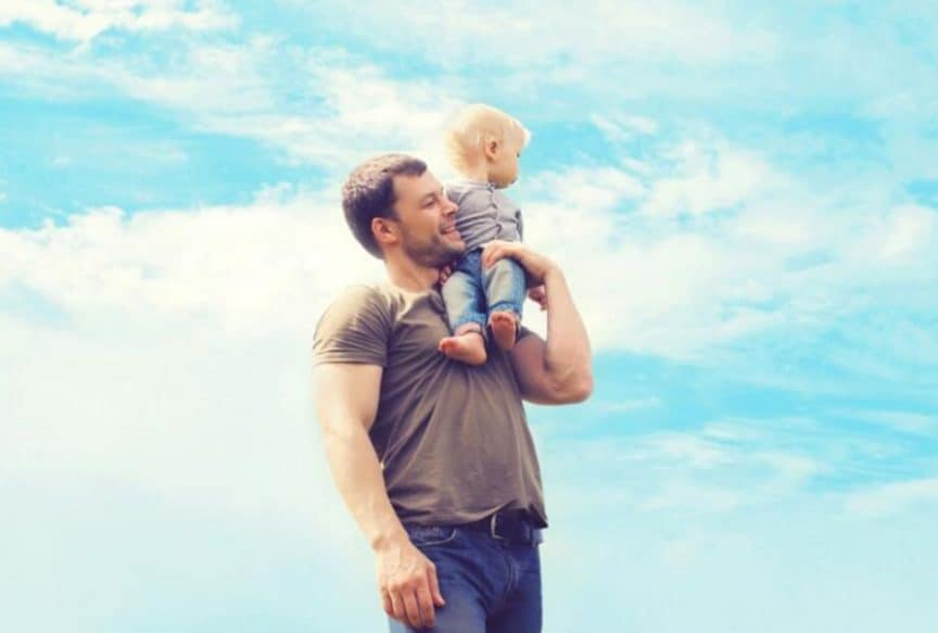 Picture of a Dad and his son on Father's Day