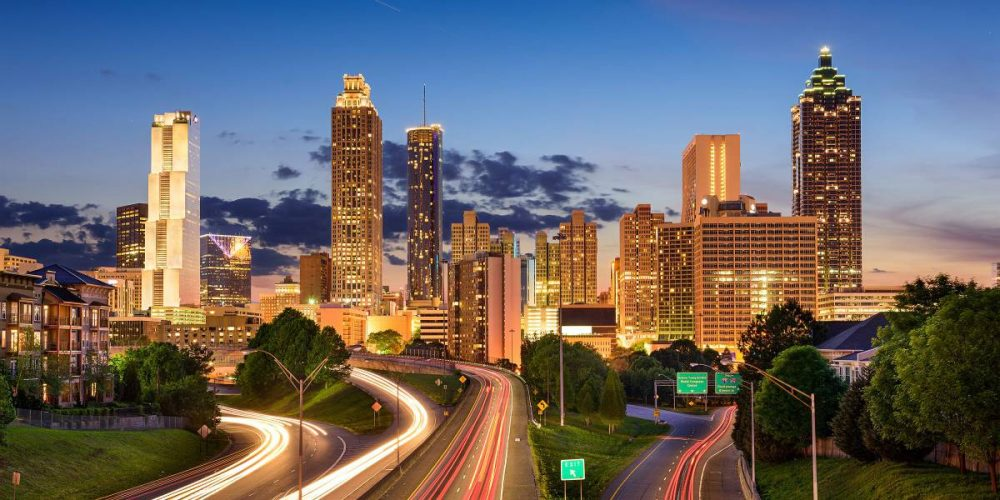 This is a picture of a skyline of the city of Atlanta, Atlanta Interpreter Services